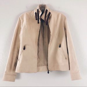 Ralph Lauren Belted Neck Mock Neck Camel Color Jacket Black Label Size 4